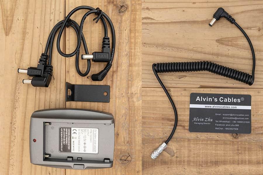 SmallRigバッテリープレート1765とBMPCC4K用電源ケーブル