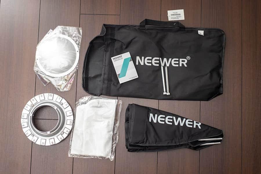 Neewer ビューティーディッシュと八角形ソフトボックス 24インチ/ 60センチ