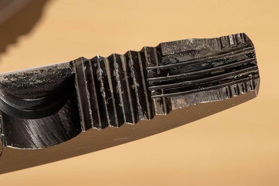 ネジザウルスGTの先端 拡大写真