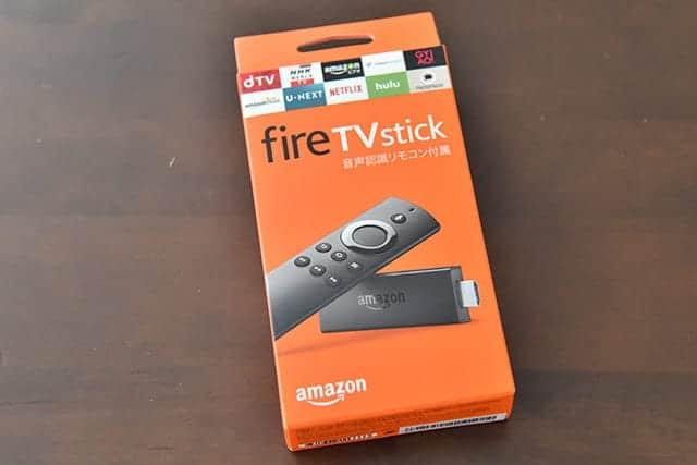 新fireTVstickのパッケージ