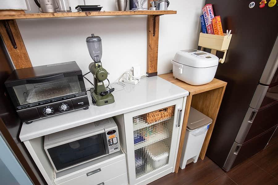 キッチンの棚の1番上にネクストGを配置