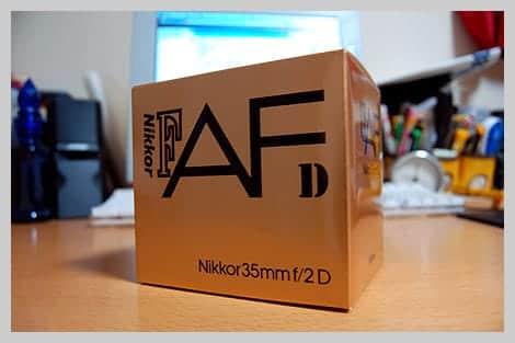 Ai AF Nikkor 35mm F2D 外箱