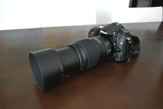 NIKKOR 55-300mm レンズを伸ばした状態