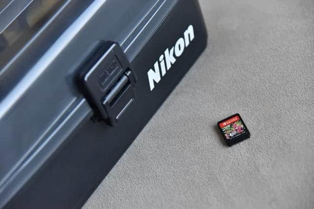 Nikonクリーニングキットプロとスプラトゥーン2のゲームカード