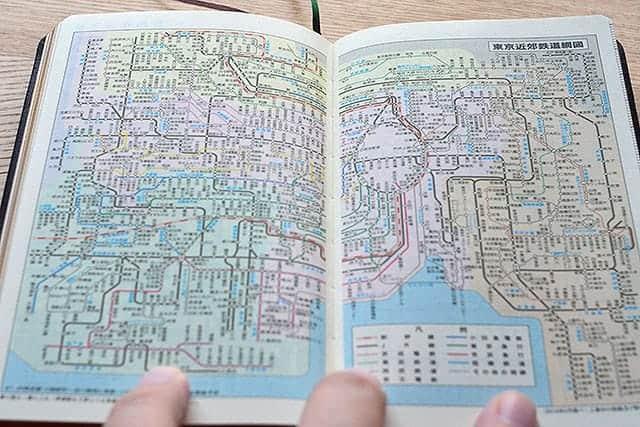 東京近郊鉄道網図