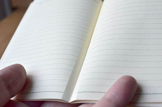メモ帳には切取線あり