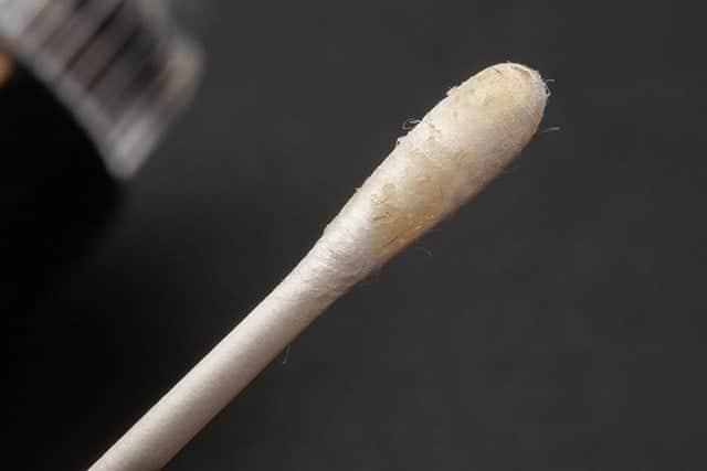 綿棒で角栓をすくってみた
