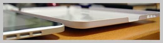 NUDE for iPad 薄くきれいに型が取ってあるケースの写真
