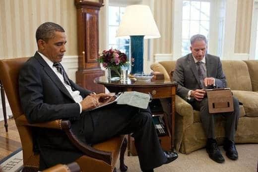 オバマ大統領とiPad