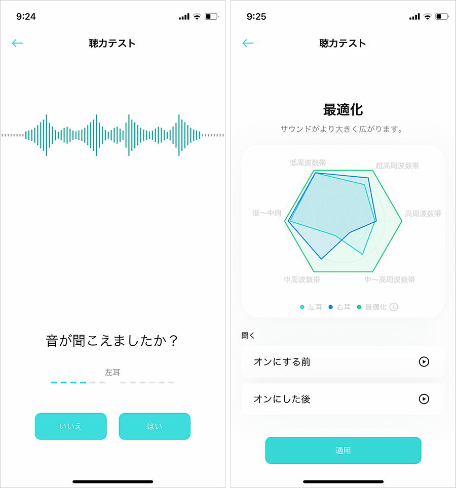 聴力テスト