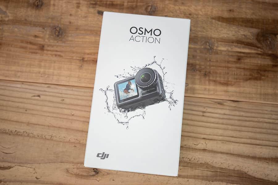 DJI Osmo Actionのパッケージ