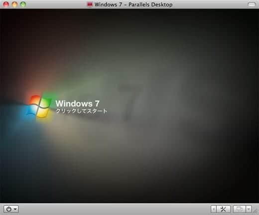 ParallelsにWindows7をインストール Windows 7 クリックしてスタート