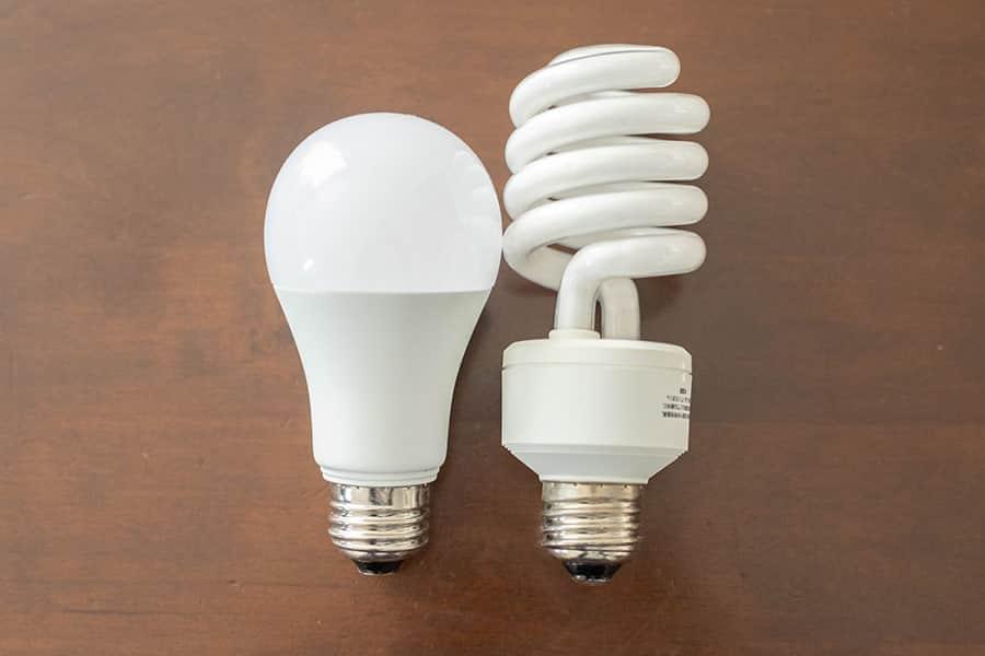 パルックボールと100形LED電球の比較
