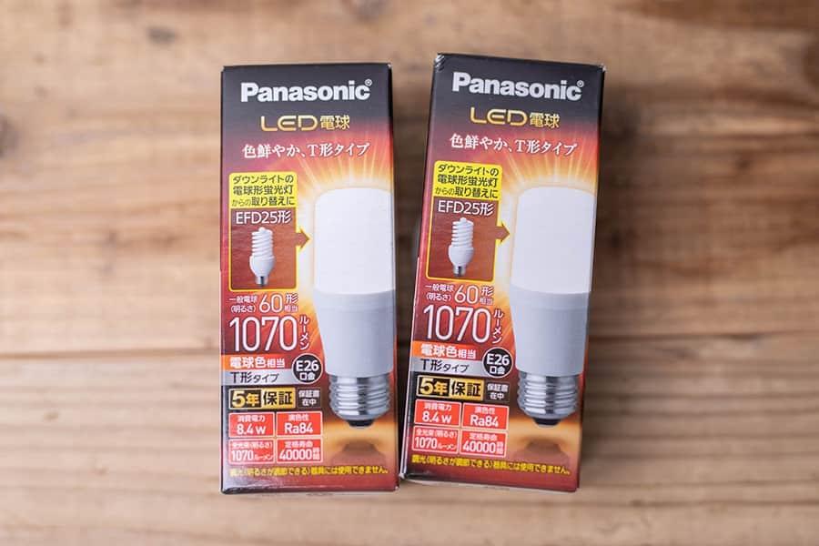 パナソニック LED電球 口金直径26mm 電球60W形相当 電球色相当(8.4W) 一般電球・T形タイプ 密閉器具対応 LDT8LGST6