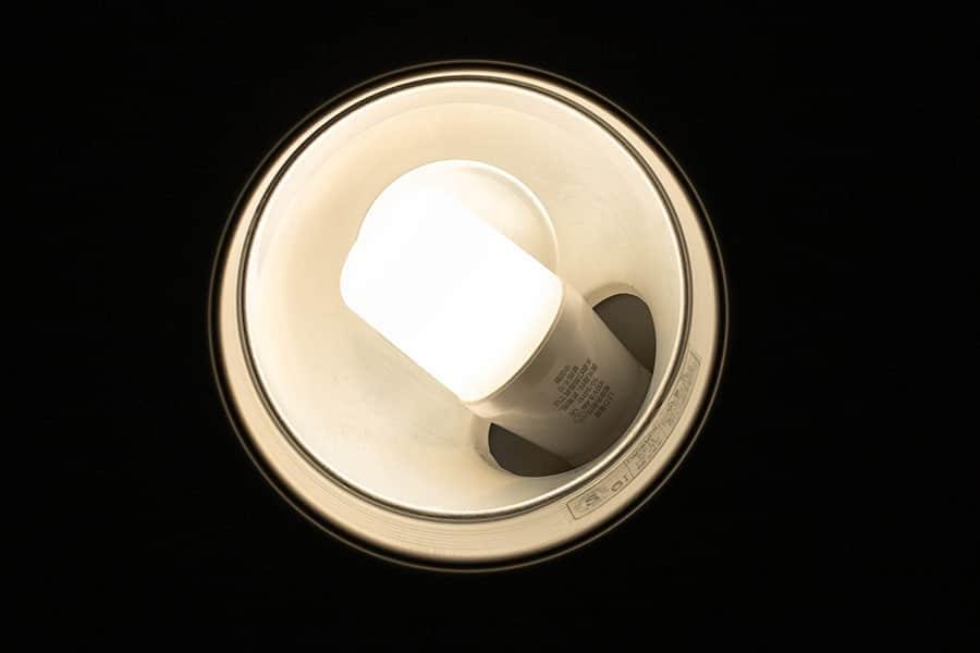 ダウンライトをT形LEDに交換した節約効果は?