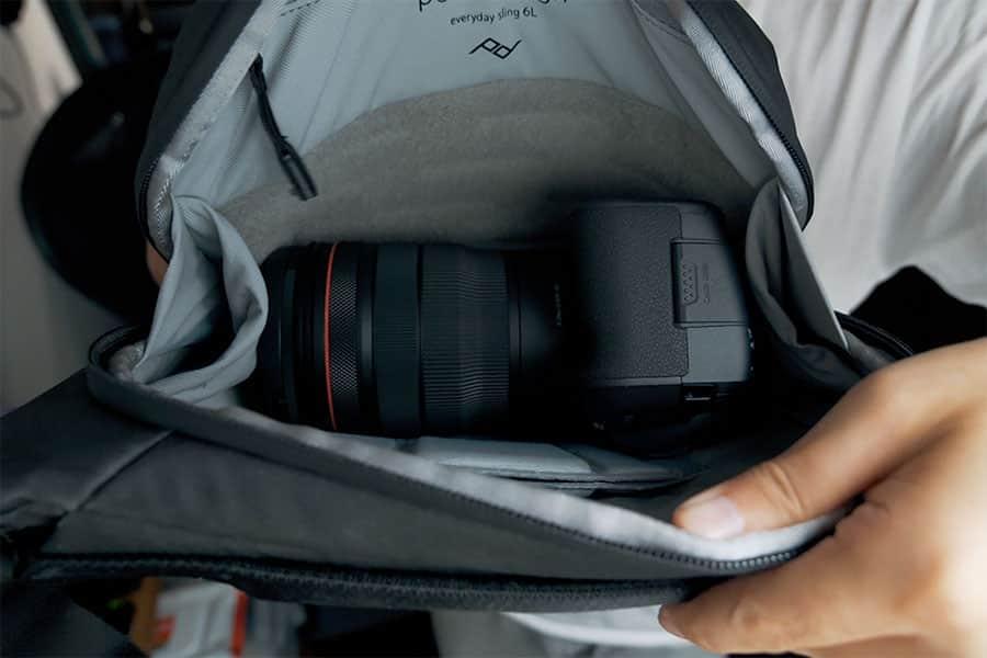 エブリデイスリング6LにRF15-35mmとEOS R