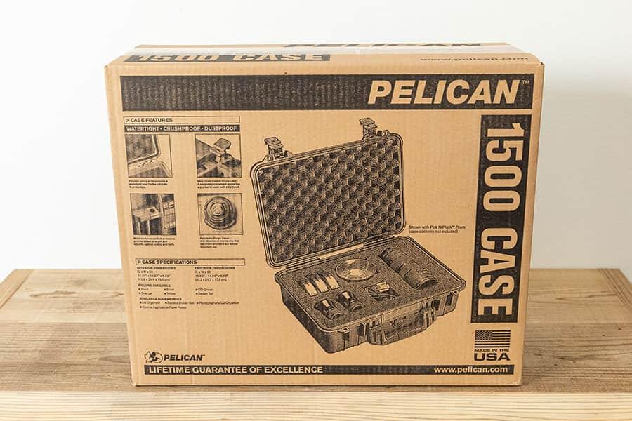 PELICAN 1500ケースのパッケージ