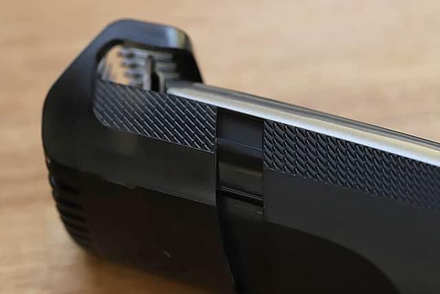 長さ調整メモリ10mm時のコームの隙間