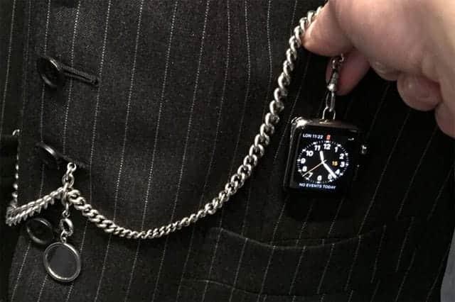 アップルウォッチが懐中時計に