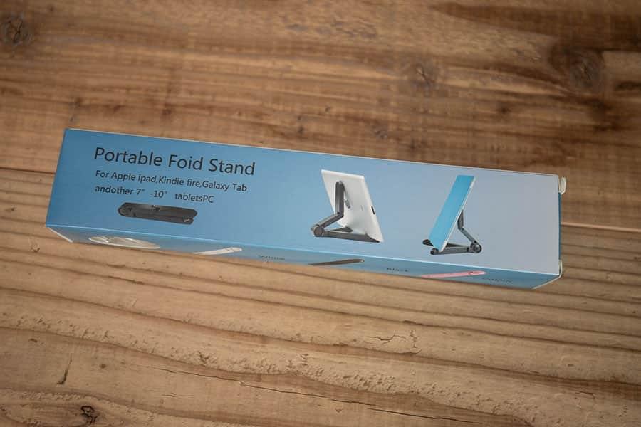 タブレット用折りたたみ式スタンド 角度調整可能