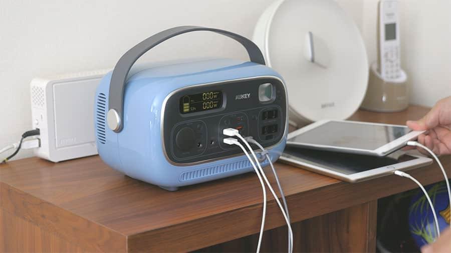ポータブル電源はリビングに置いて毎日使ってます
