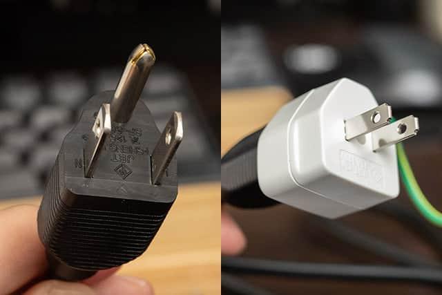 これで電源タップに差し込んで使えます