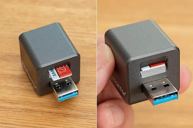 microSDカードを挿したQubii Pro