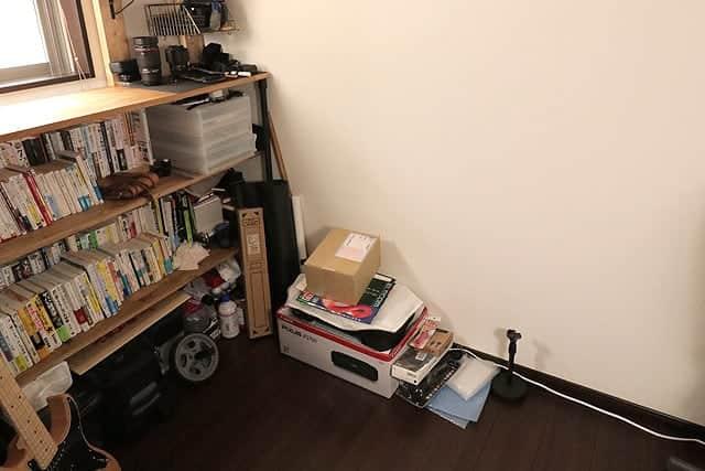 ビフォー:ラダーシェルフ製作前の部屋写真