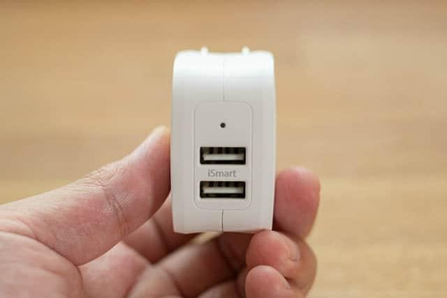 USBポートは2つ搭載