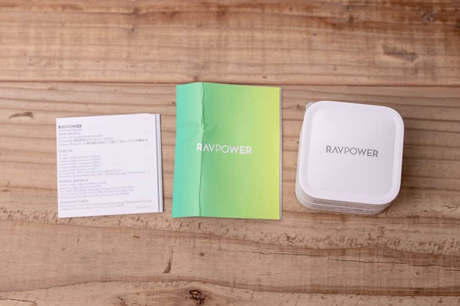 RAVPower 30W 急速充電器 パッケージ一覧