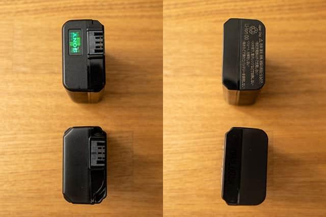 NP-FW50 純正と互換バッテリーの比較