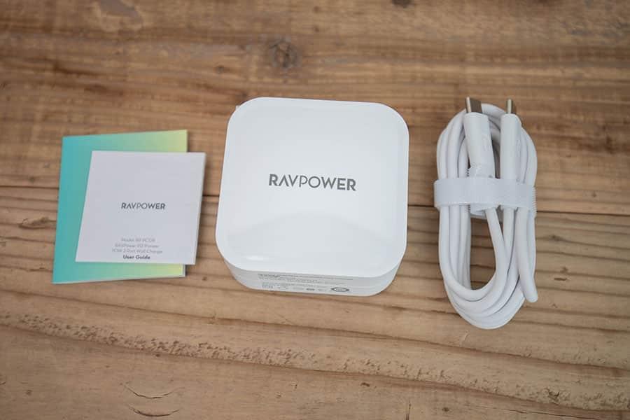 RAVPower Type C 2ポート 急速充電器 90W RP-PC128 パッケージ一覧