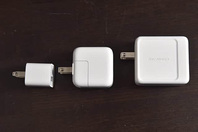 Appleの充電器と計測比較してみた