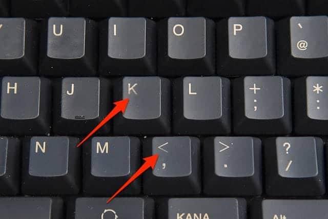 薄くなったキートップの文字