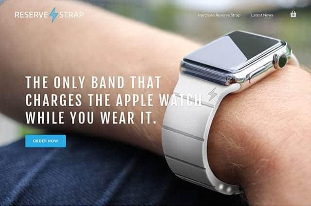 Apple Watchのバッテリーを30時間延長できるバッテリ内臓バンド「Reserve Strap」