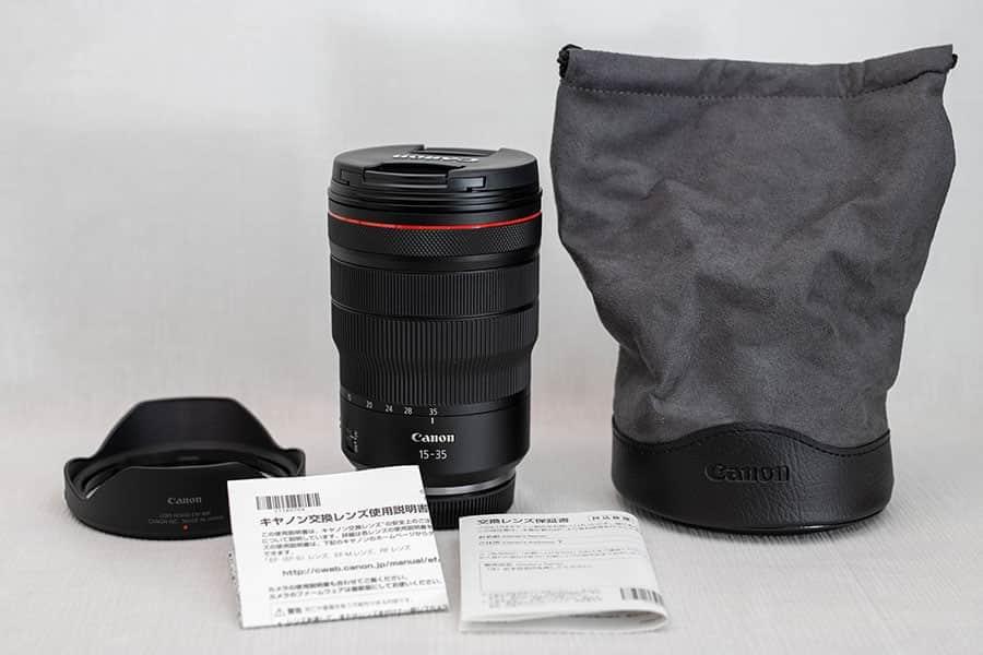 RF15-35mm F2.8 パッケージ一覧