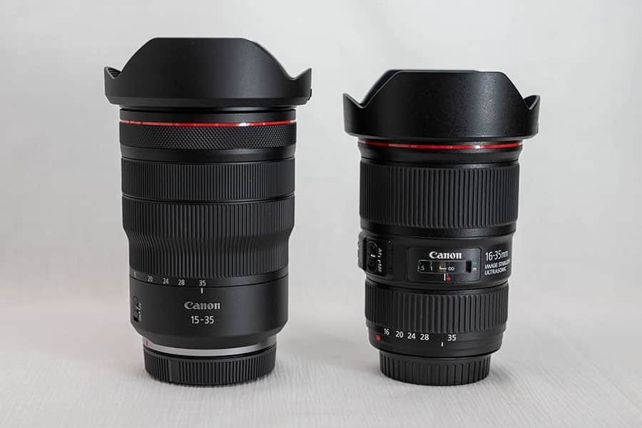 RF15-35mmとEF16-35mm F4Lとの比較
