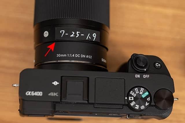カメラにそれぞれの数値をメモ