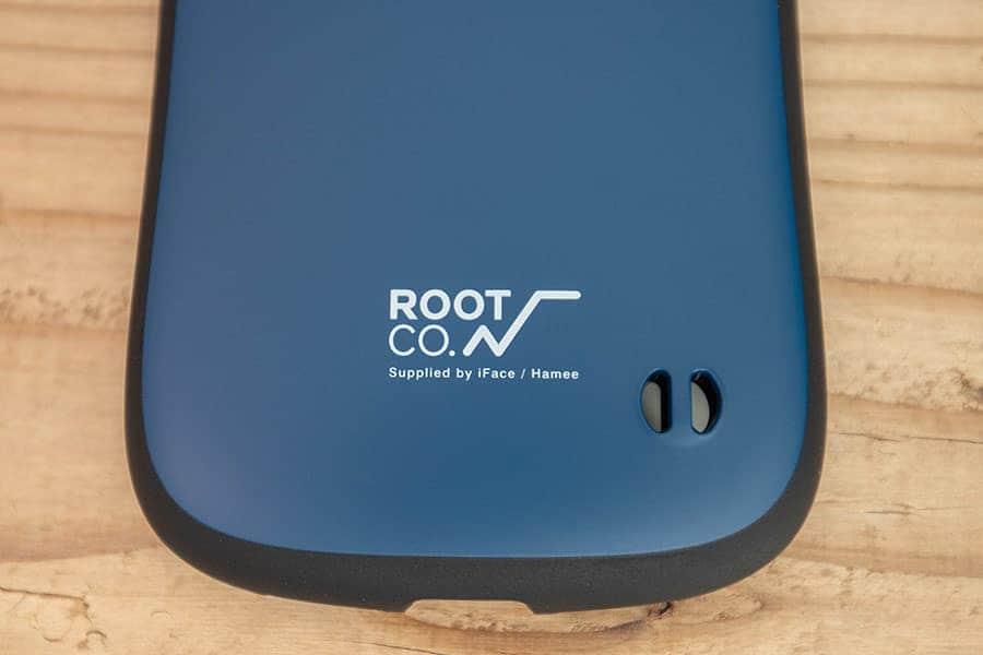 背面下部にROOT CO.のロゴ
