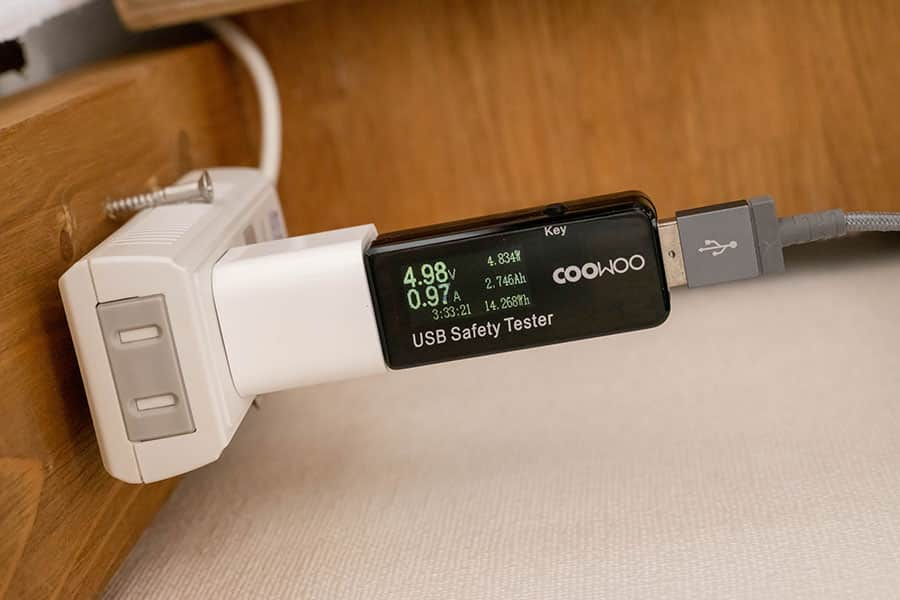 5W Apple充電時のワット数