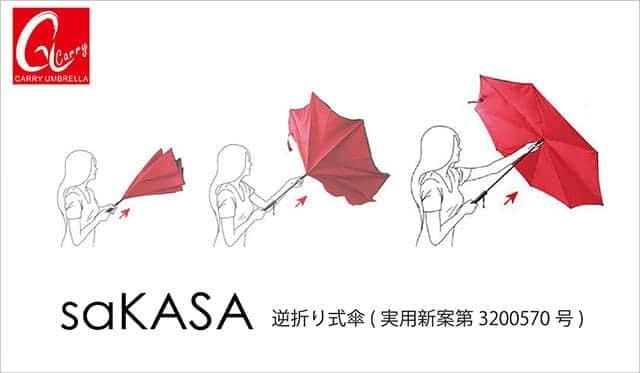saKASA 傘を開く動き