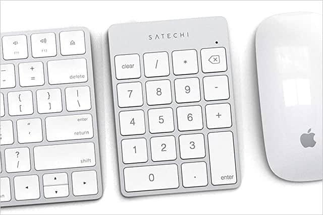Macにぴったり!人間工学に基づいたアルミニウム製の無線テンキー。Apple製品と相性抜群