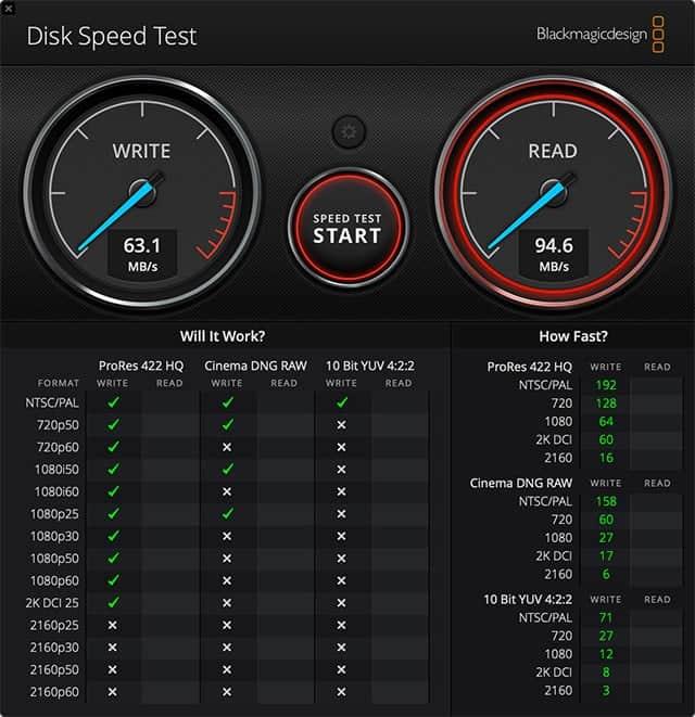 iMacのSDカードリーダーでの転送速度