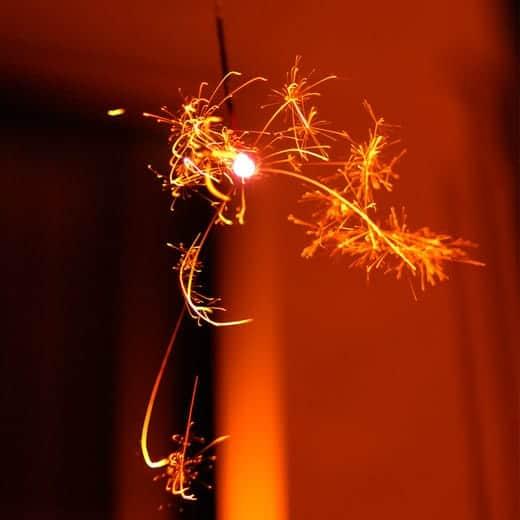 線香花火の写真