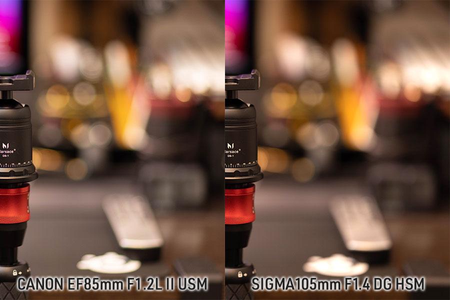 比較写真2 EF85mm F1.2 VS SIGMA 105mm F1.4
