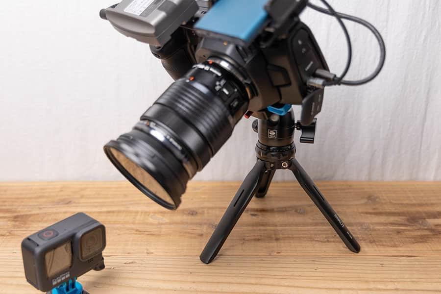 大きなカメラも搭載可能