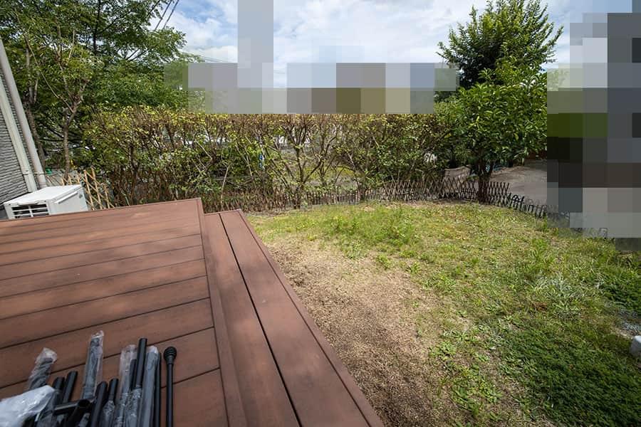 今回は庭の一角にリバウンドネットを設置します