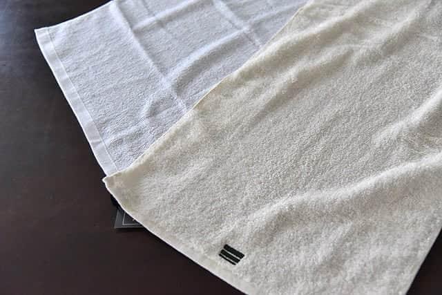 タオルを広げて比較