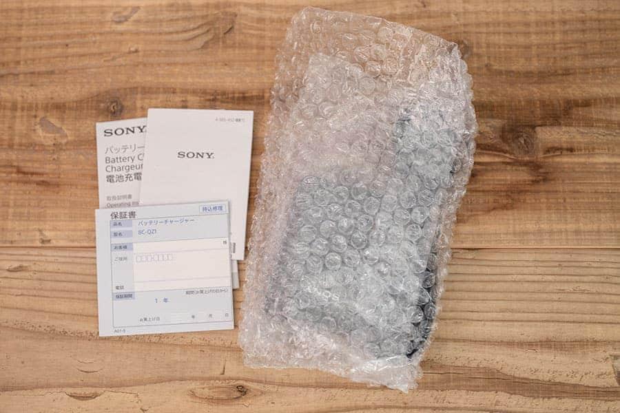ソニー急速充電器のパッケージ一覧