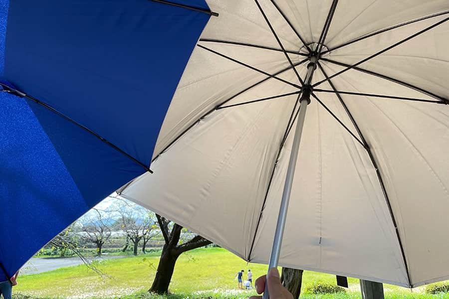 ホームセンターの日傘